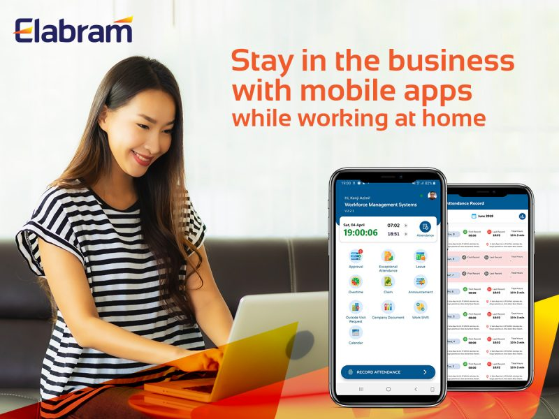 stay in the business with mobile apps during working from home